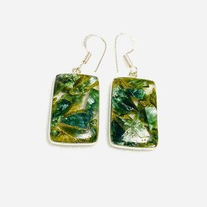 Copper Seraphinite Earrings